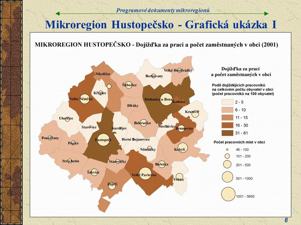 Mikroregion Hustopečsko - Grafická ukázka I
