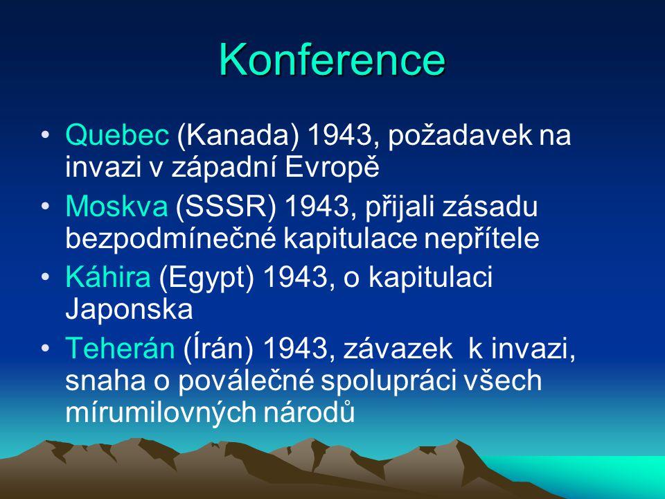 Konference Quebec (Kanada) 1943, požadavek na invazi v západní Evropě