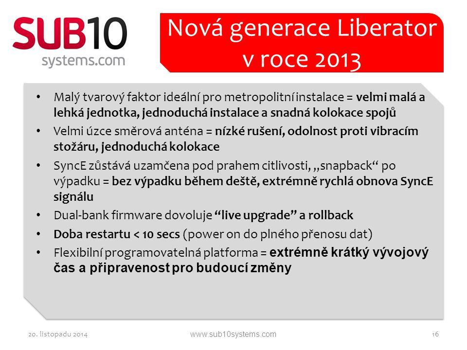 Nová generace Liberator v roce 2013