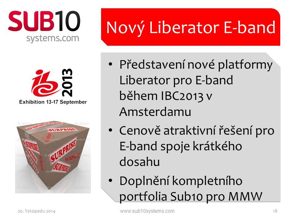 Nový Liberator E-band Představení nové platformy Liberator pro E-band během IBC2013 v Amsterdamu.