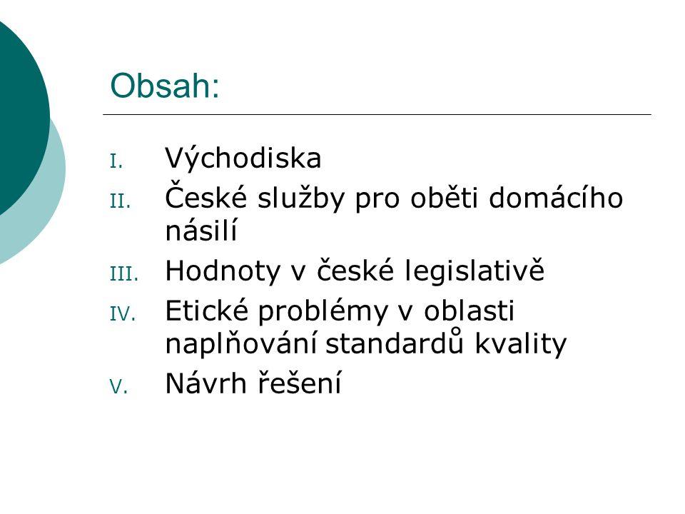 Obsah: Východiska České služby pro oběti domácího násilí