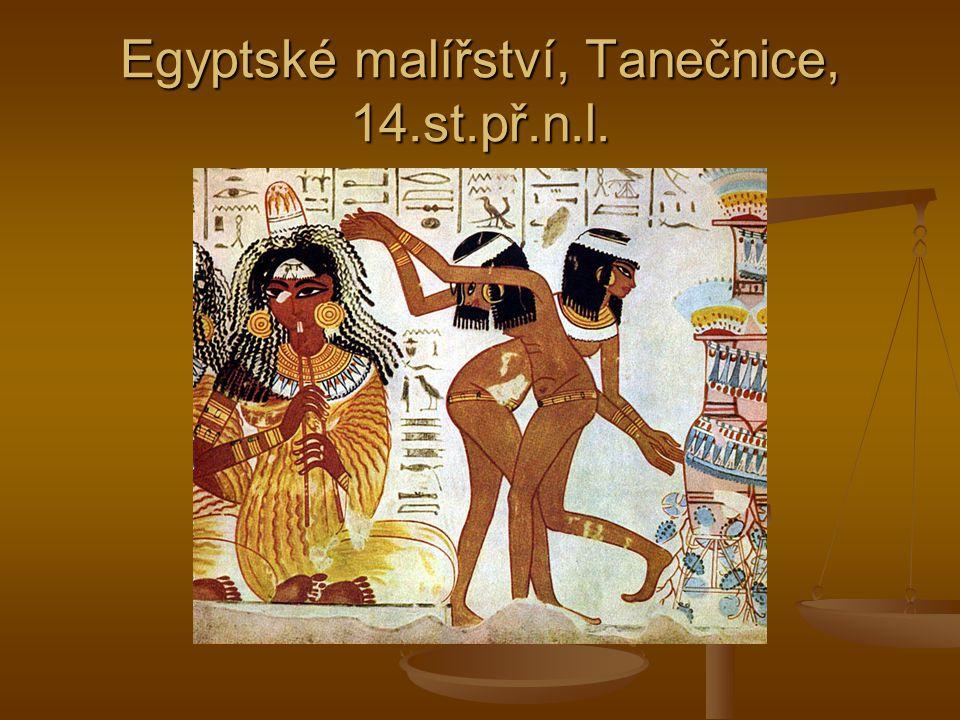Egyptské malířství, Tanečnice, 14.st.př.n.l.