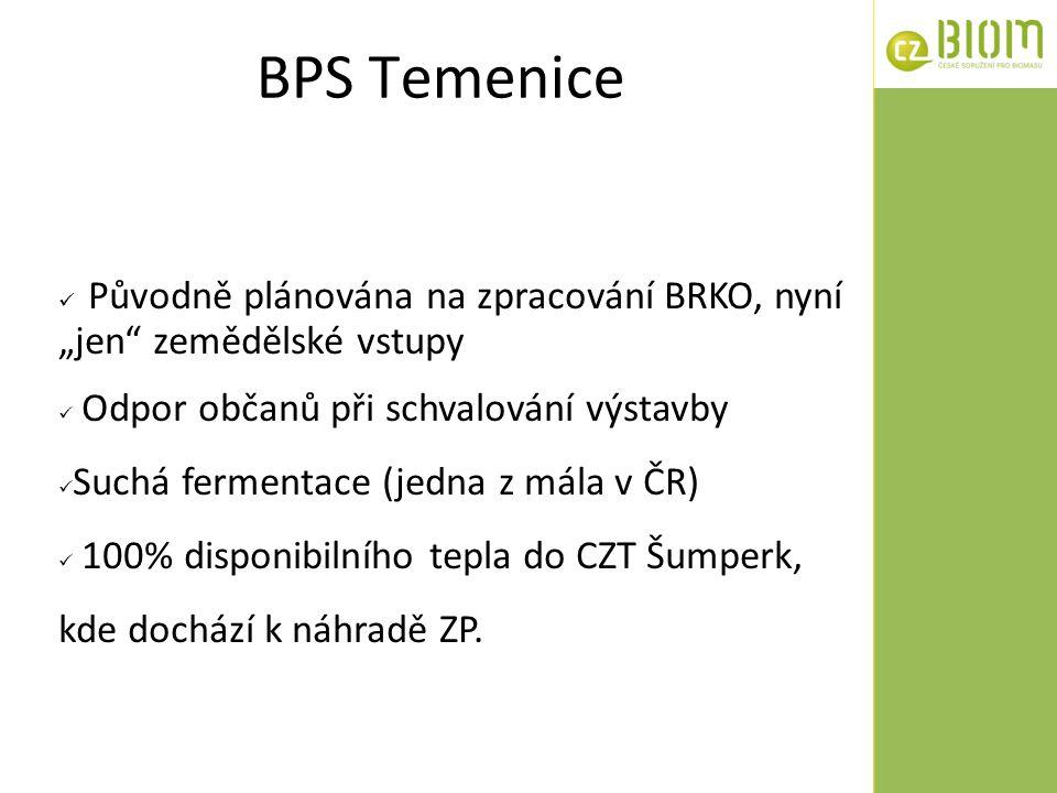 """BPS Temenice Původně plánována na zpracování BRKO, nyní """"jen zemědělské vstupy. Odpor občanů při schvalování výstavby."""