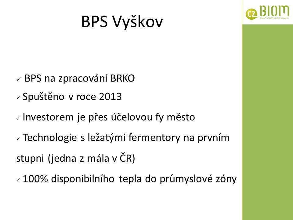 BPS Vyškov BPS na zpracování BRKO Spuštěno v roce 2013