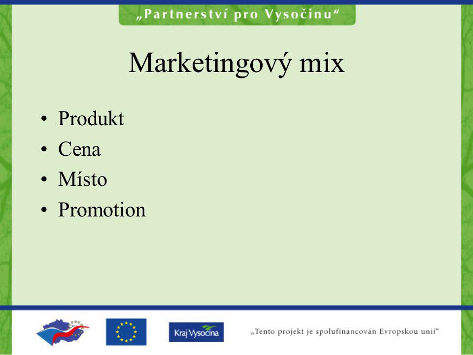 Marketingový mix Produkt Cena Místo Promotion