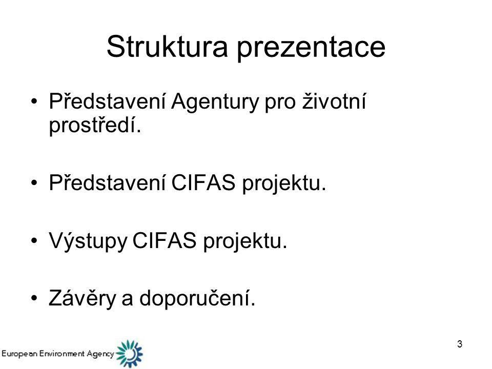Struktura prezentace Představení Agentury pro životní prostředí.