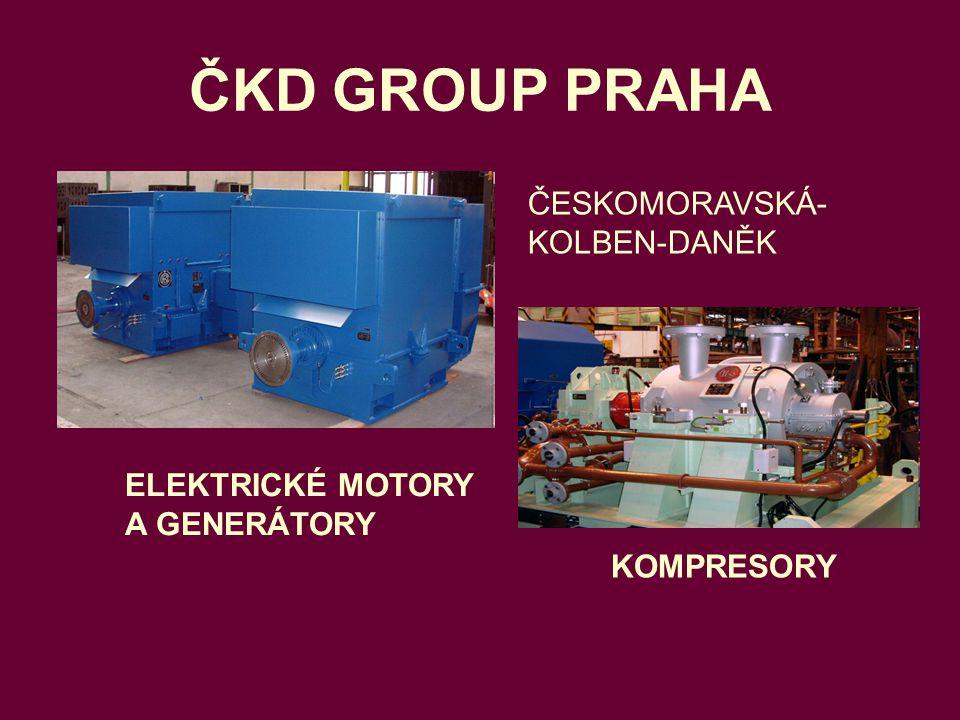ČKD GROUP PRAHA ČESKOMORAVSKÁ-KOLBEN-DANĚK ELEKTRICKÉ MOTORY