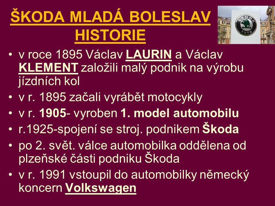 ŠKODA MLADÁ BOLESLAV HISTORIE