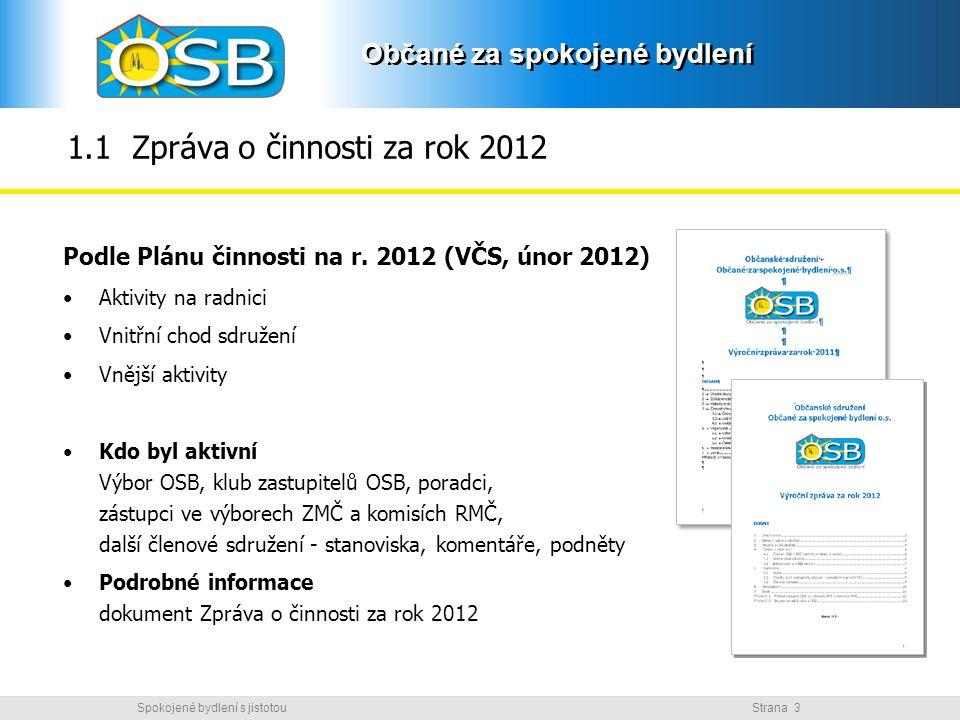 1.1 Zpráva o činnosti za rok 2012