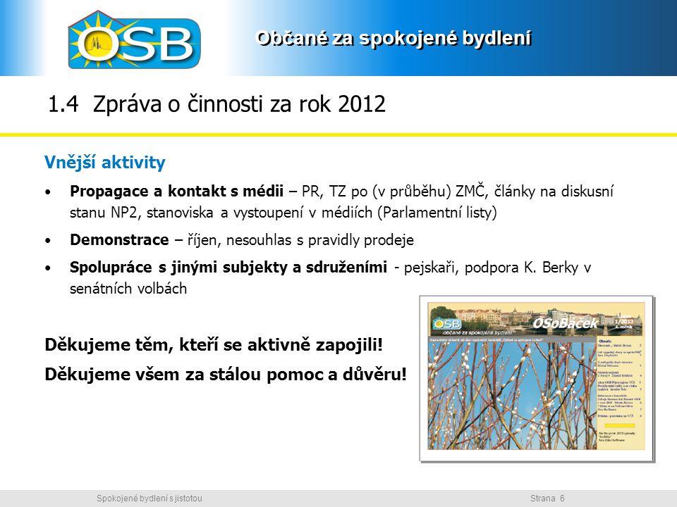 1.4 Zpráva o činnosti za rok 2012