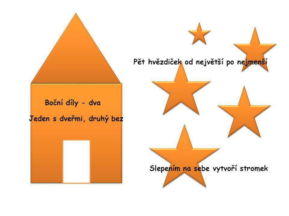 Pět hvězdiček od největší po nejmenší