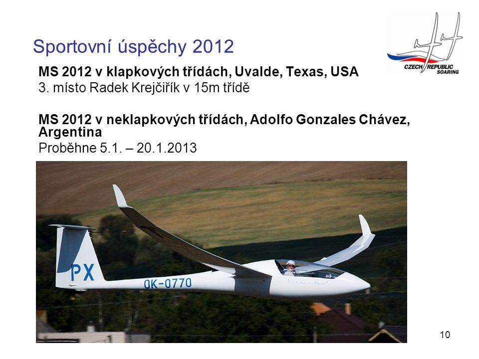 Sportovní úspěchy 2012 MS 2012 v klapkových třídách, Uvalde, Texas, USA. 3. místo Radek Krejčiřík v 15m třídě.