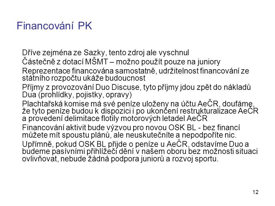 Financování PK