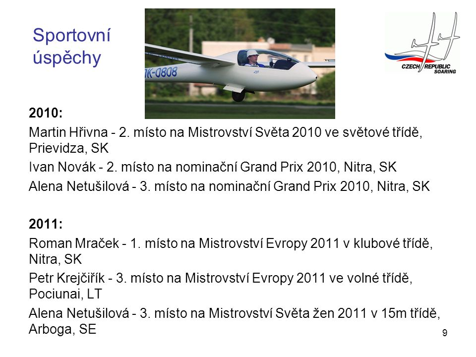 Sportovní úspěchy 2010: Martin Hřivna - 2. místo na Mistrovství Světa 2010 ve světové třídě, Prievidza, SK.