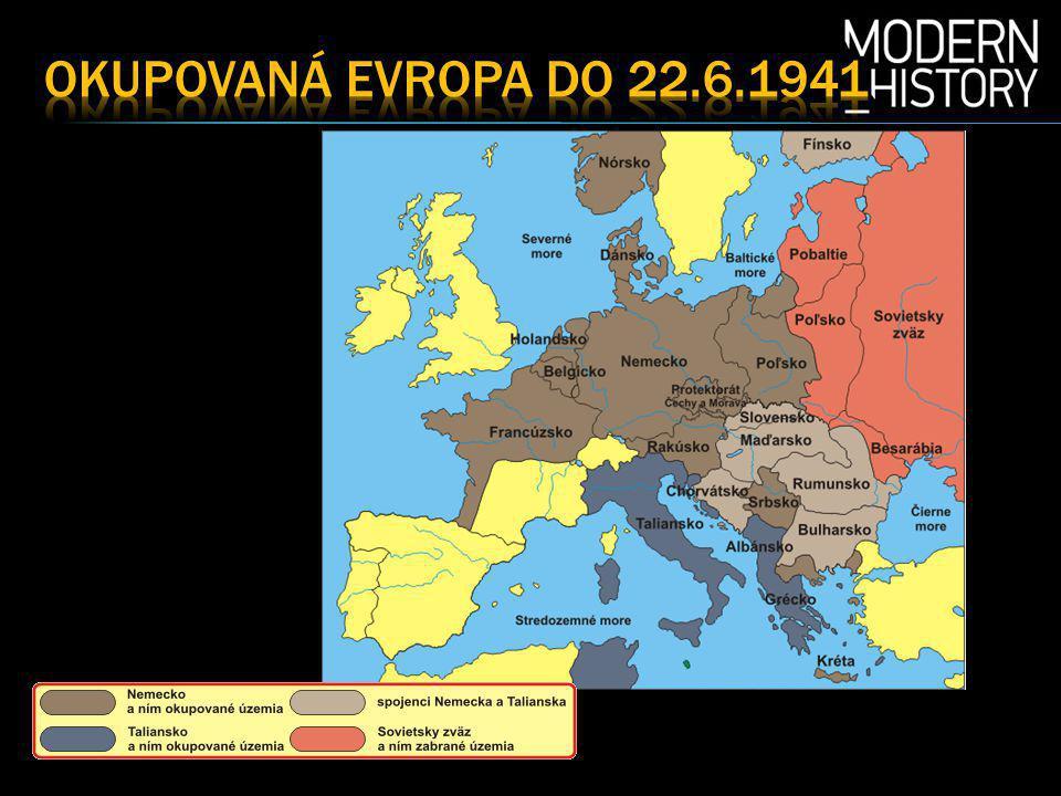 Okupovaná EVropa do 22.6.1941