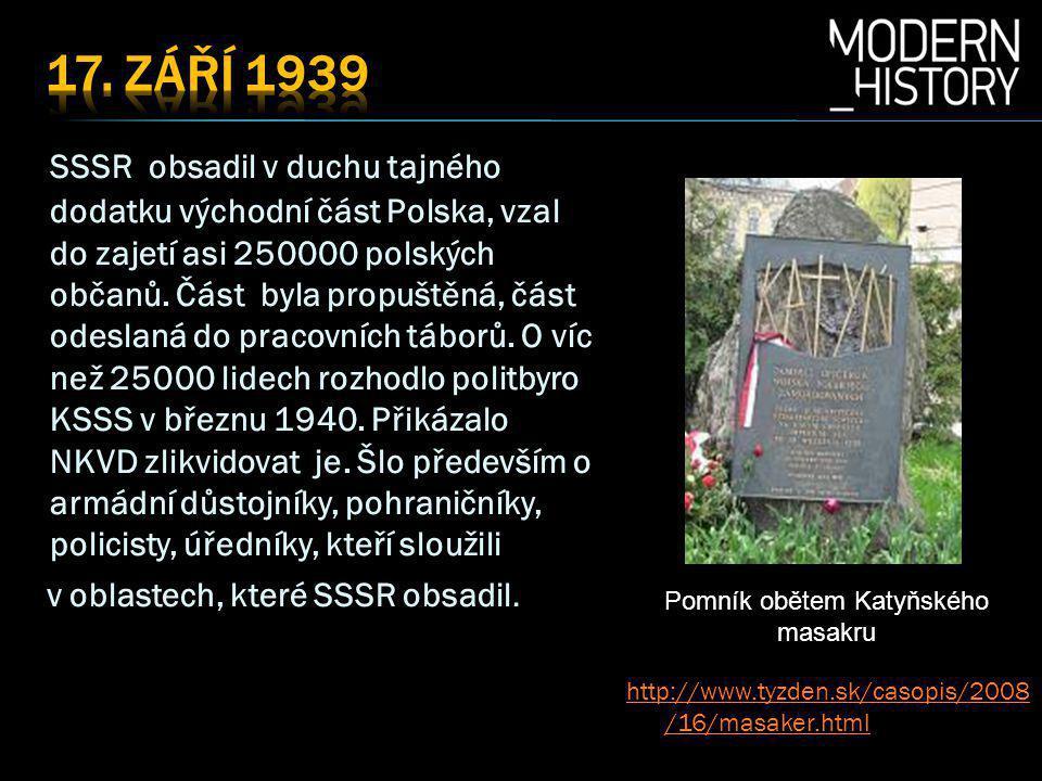 Pomník obětem Katyňského masakru