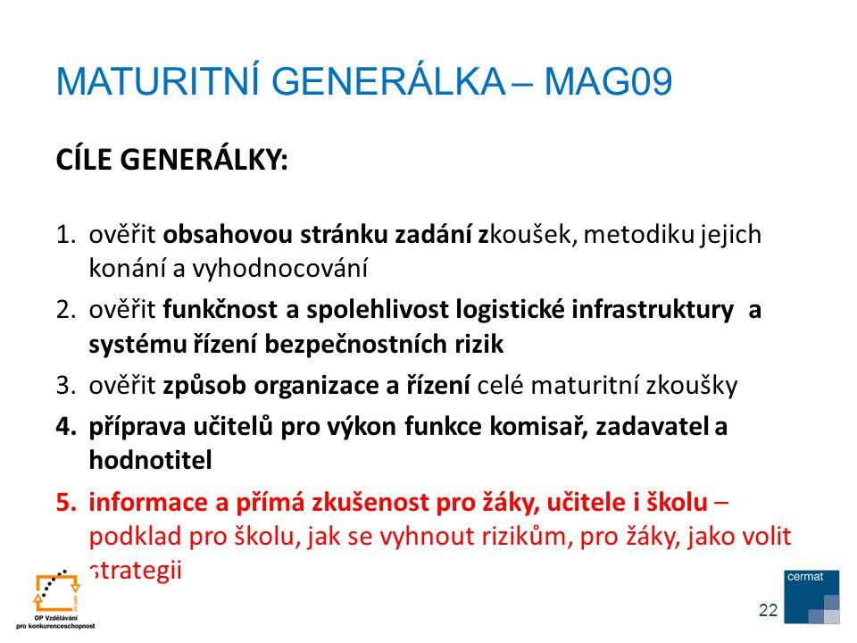 MATURITNÍ GENERÁLKA – MAG09