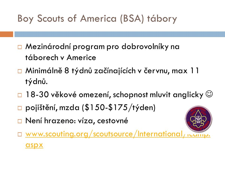 Boy Scouts of America (BSA) tábory