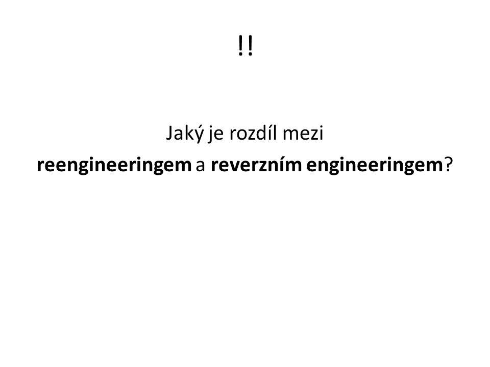 Jaký je rozdíl mezi reengineeringem a reverzním engineeringem