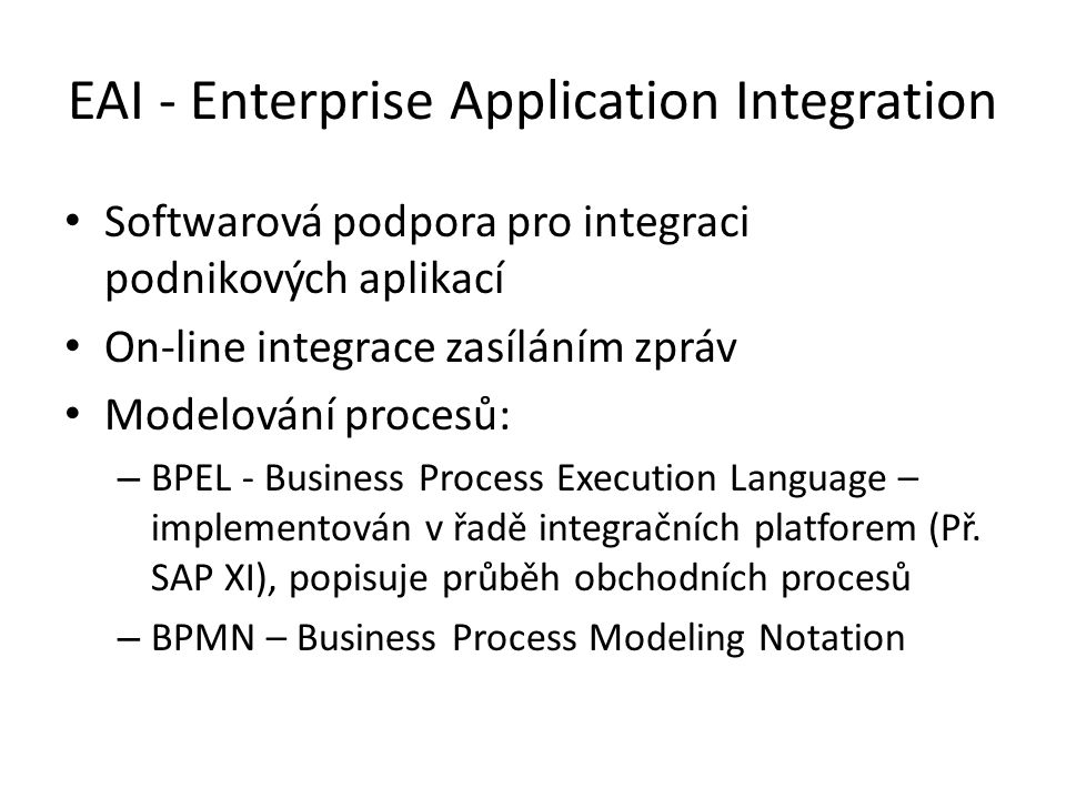 EAI - Enterprise Application Integration