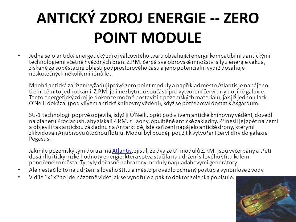 ANTICKÝ ZDROJ ENERGIE -- ZERO POINT MODULE