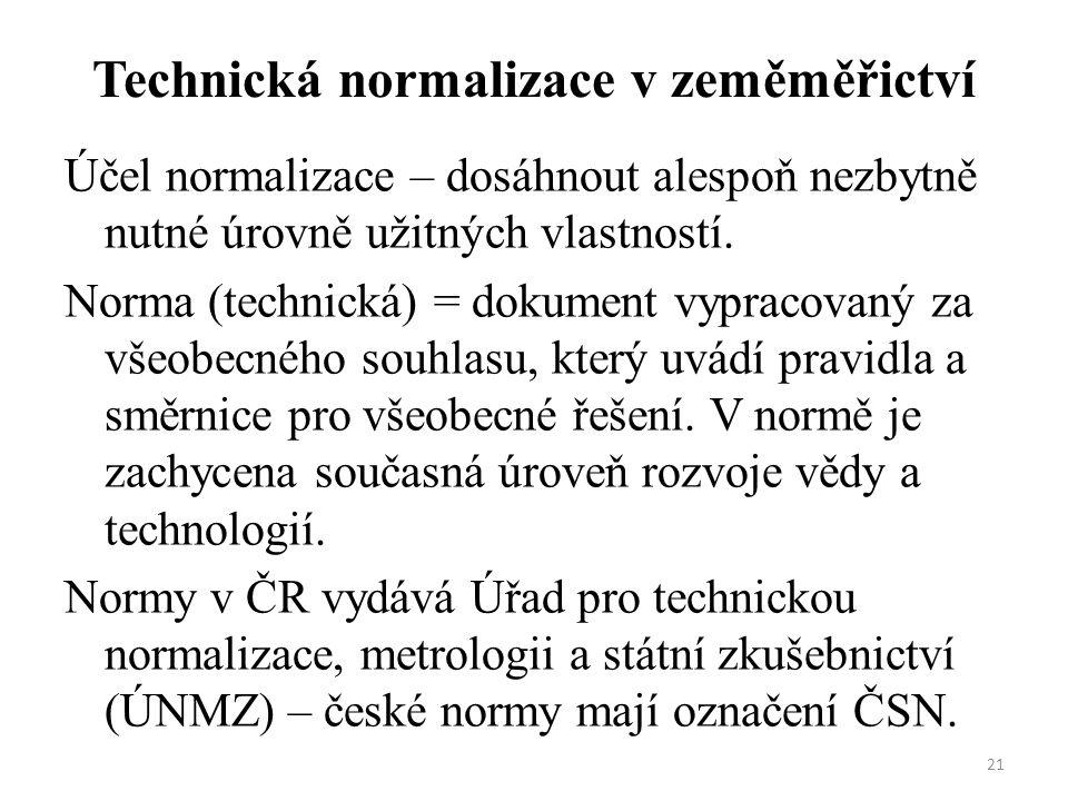 Technická normalizace v zeměměřictví
