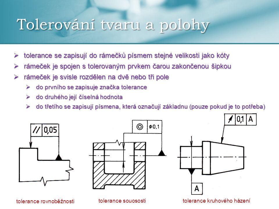 Tolerování tvaru a polohy