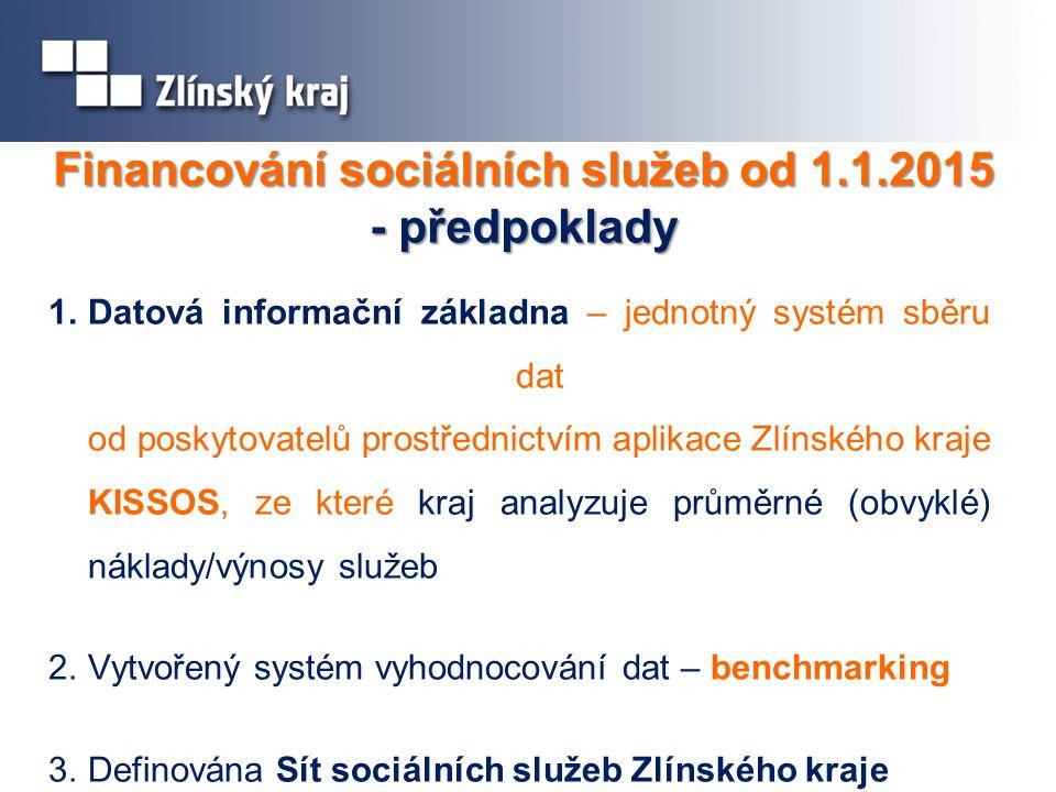 Financování sociálních služeb od 1.1.2015 - předpoklady