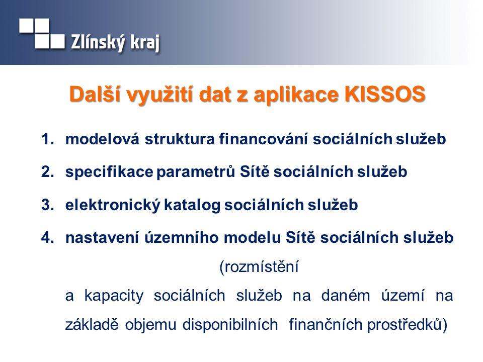 Další využití dat z aplikace KISSOS