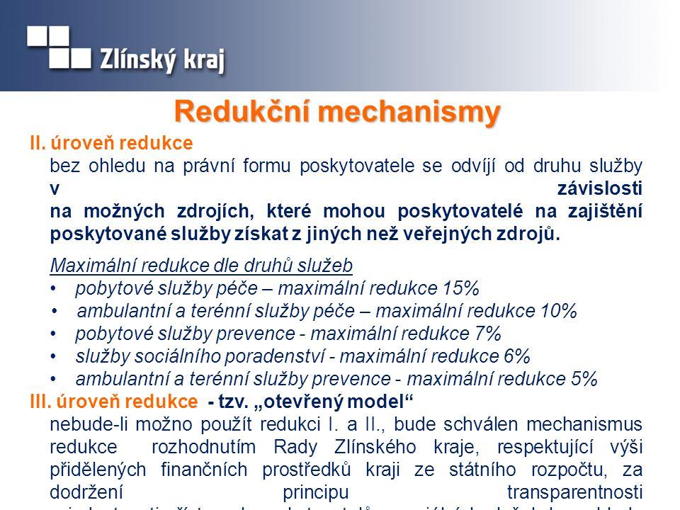 Redukční mechanismy II. úroveň redukce