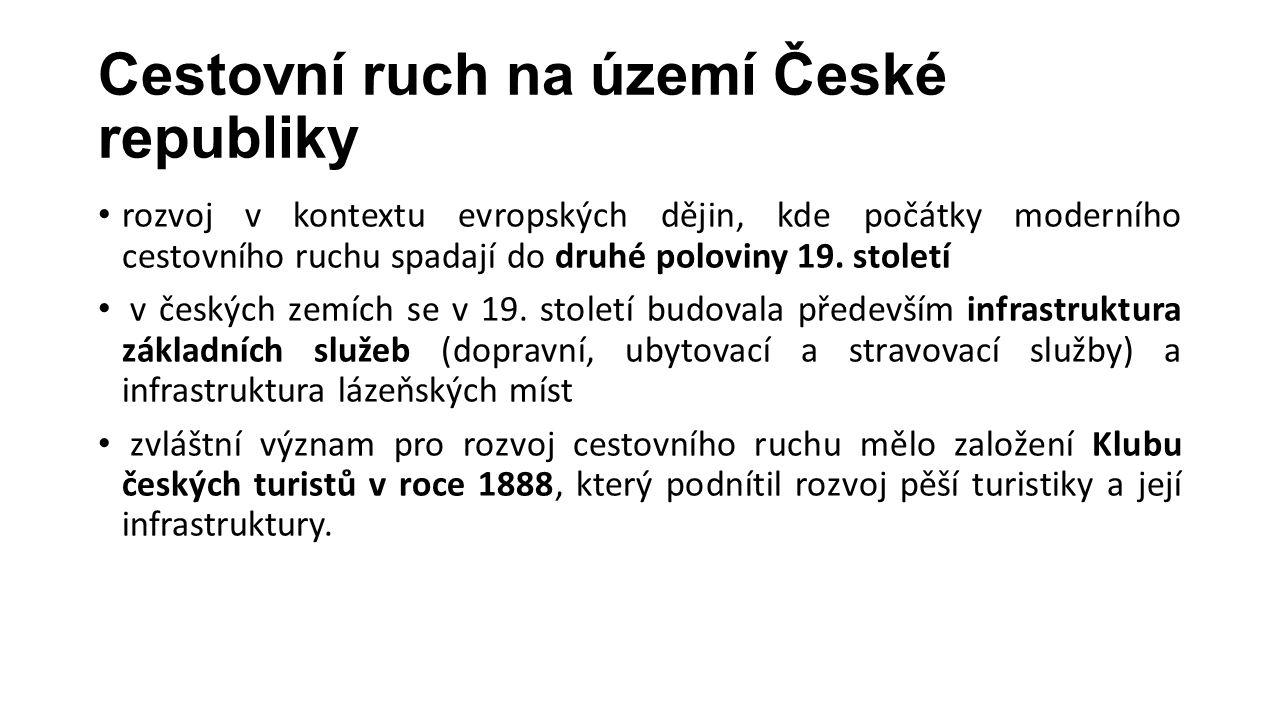 Cestovní ruch na území České republiky