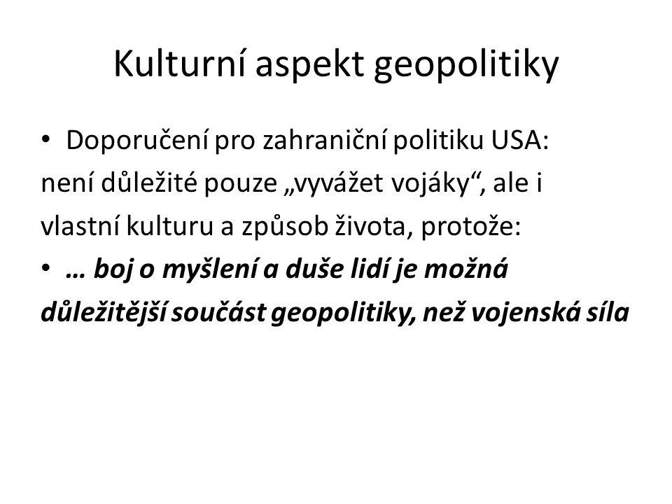 Kulturní aspekt geopolitiky