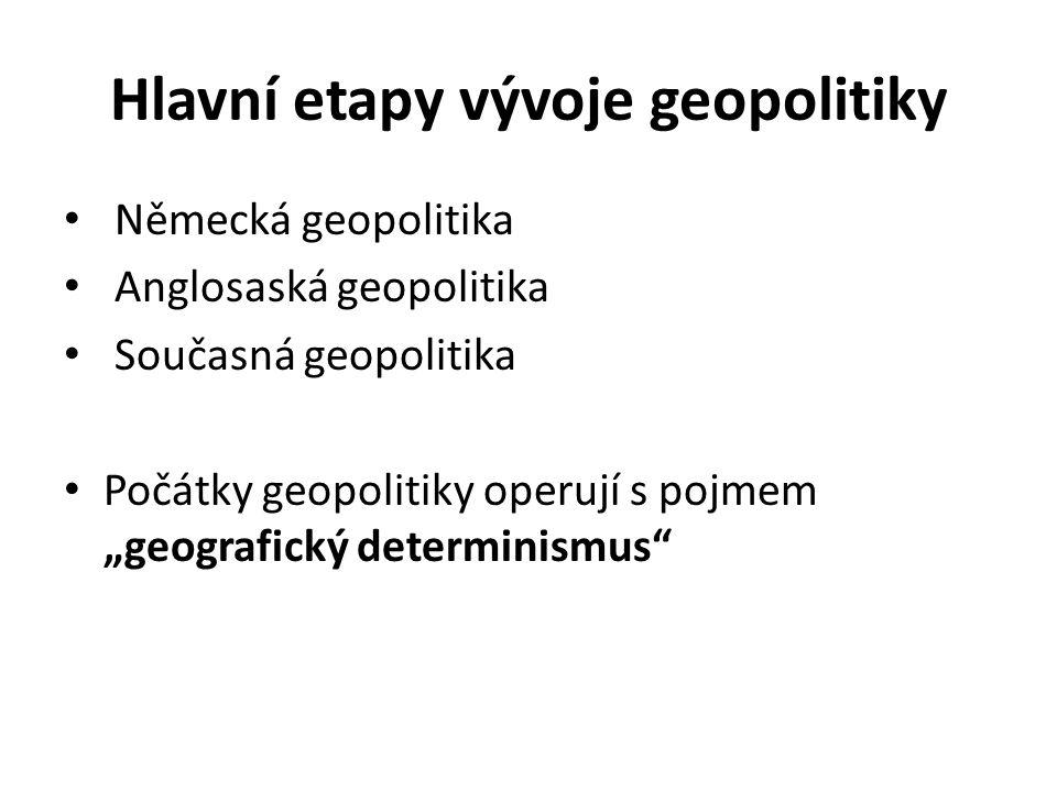 Hlavní etapy vývoje geopolitiky