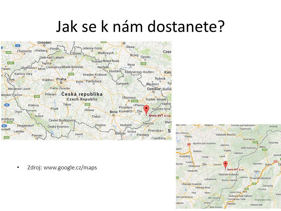 Jak se k nám dostanete Zdroj: www.google.cz/maps