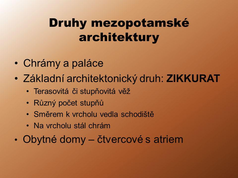 Druhy mezopotamské architektury