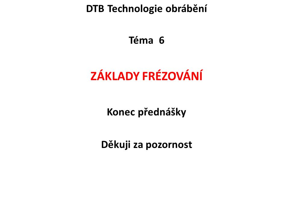 DTB Technologie obrábění
