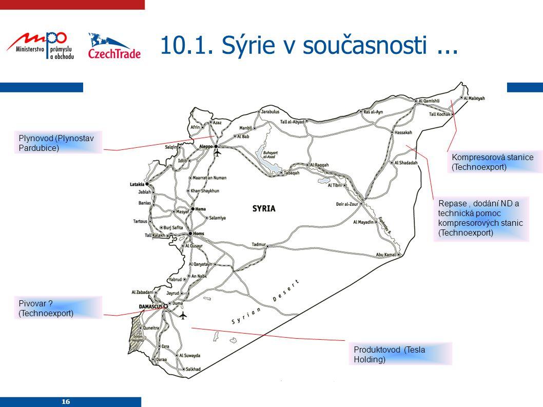10.1. Sýrie v současnosti ... Plynovod (Plynostav Pardubice)