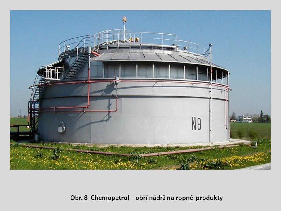 Obr. 8 Chemopetrol – obří nádrž na ropné produkty