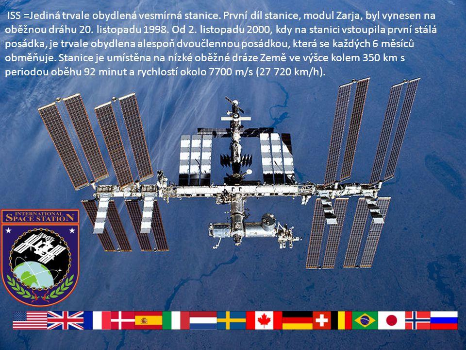 ISS =Jediná trvale obydlená vesmírná stanice