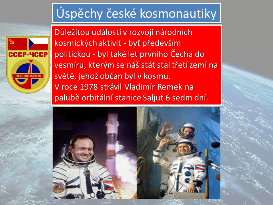 Úspěchy české kosmonautiky