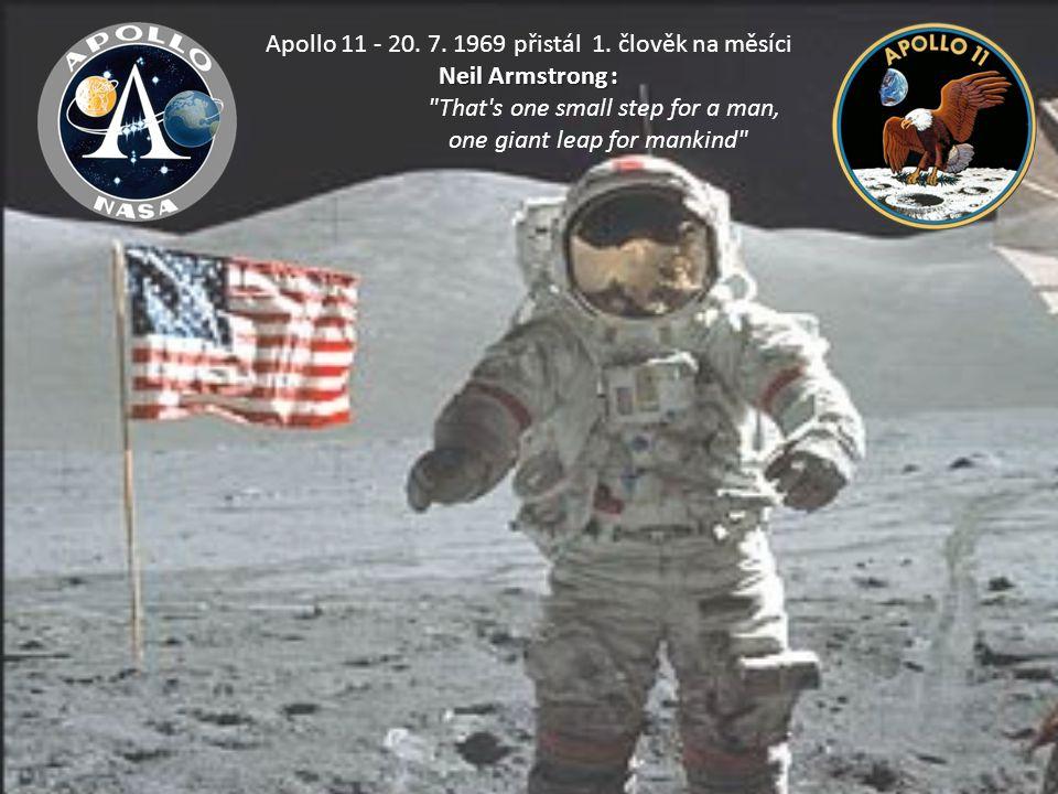 Apollo 11 - 20. 7. 1969 přistál 1. člověk na měsíci Neil Armstrong :