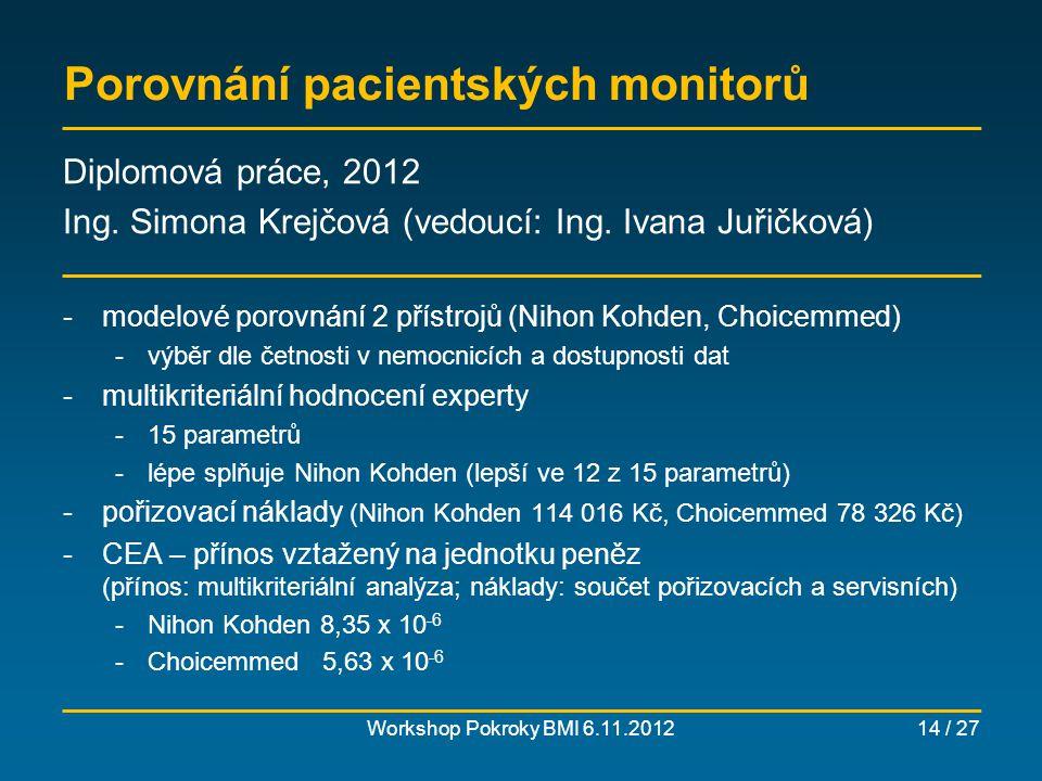 Porovnání pacientských monitorů