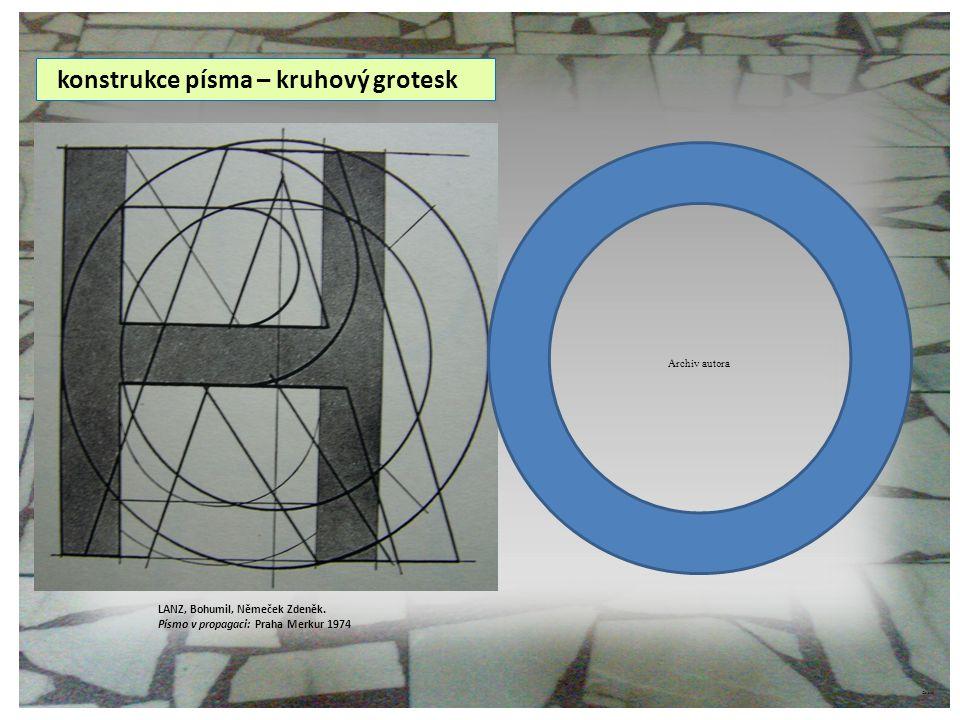 konstrukce písma – kruhový grotesk