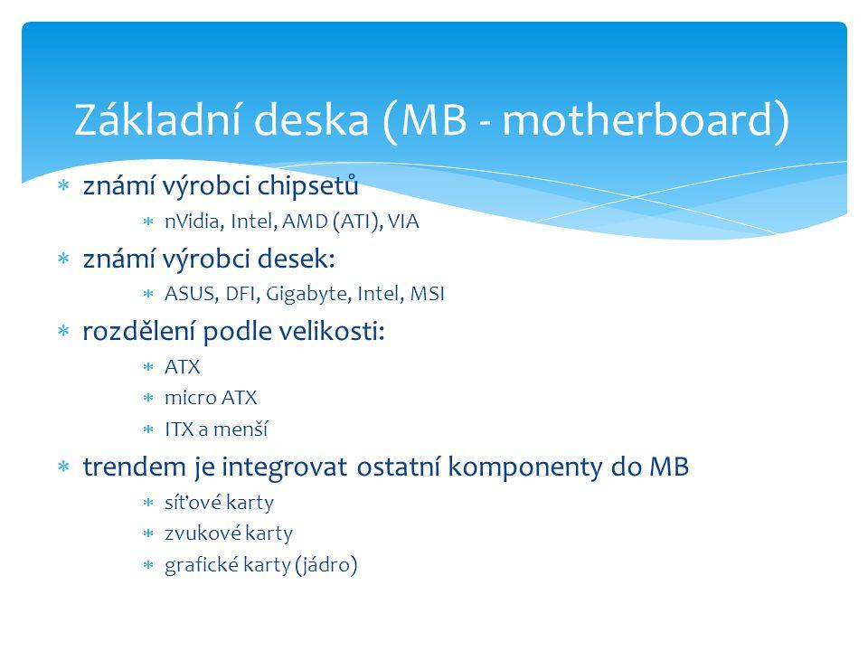 Základní deska (MB - motherboard)
