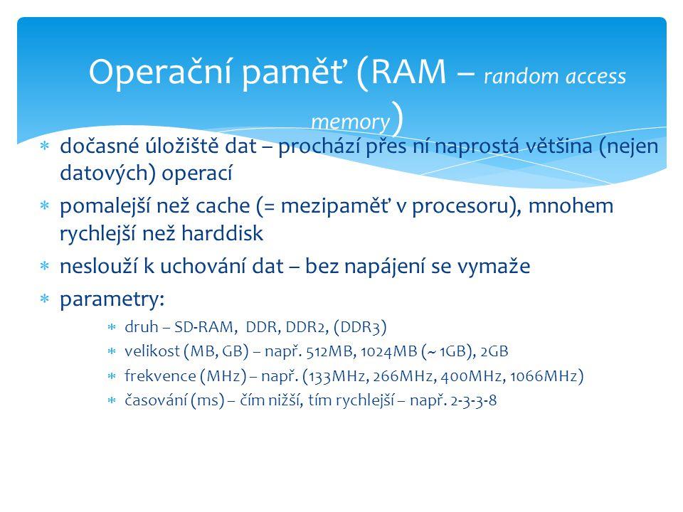 Operační paměť (RAM – random access memory)