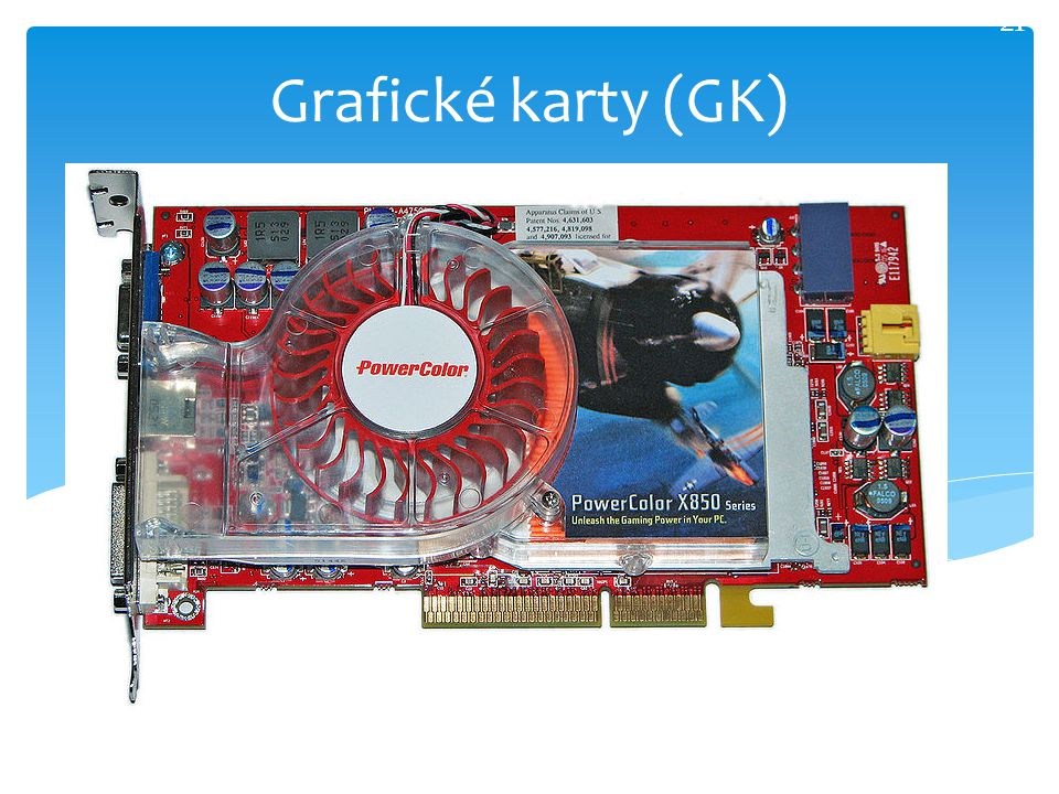 21 Grafické karty (GK)
