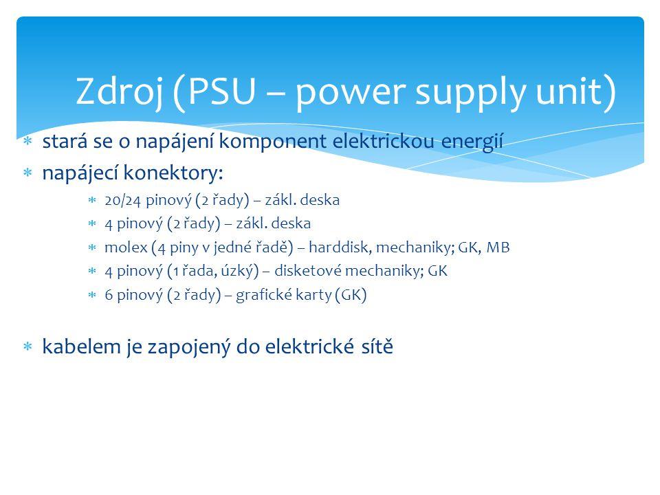 Zdroj (PSU – power supply unit)