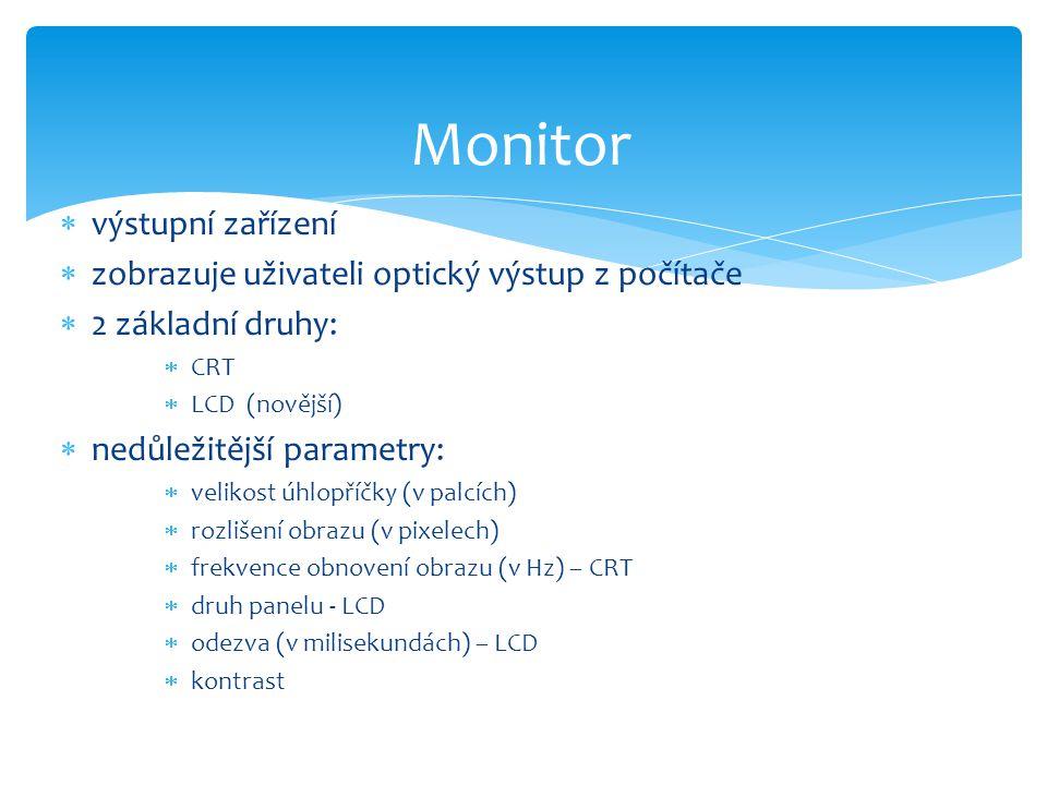 Monitor výstupní zařízení