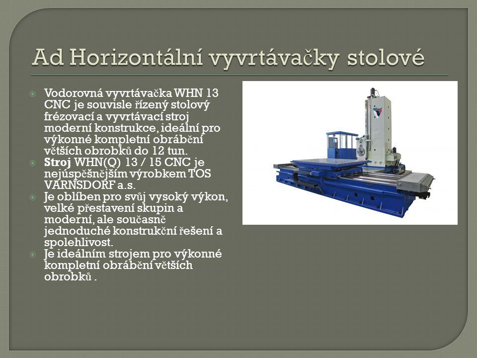 Ad Horizontální vyvrtávačky stolové