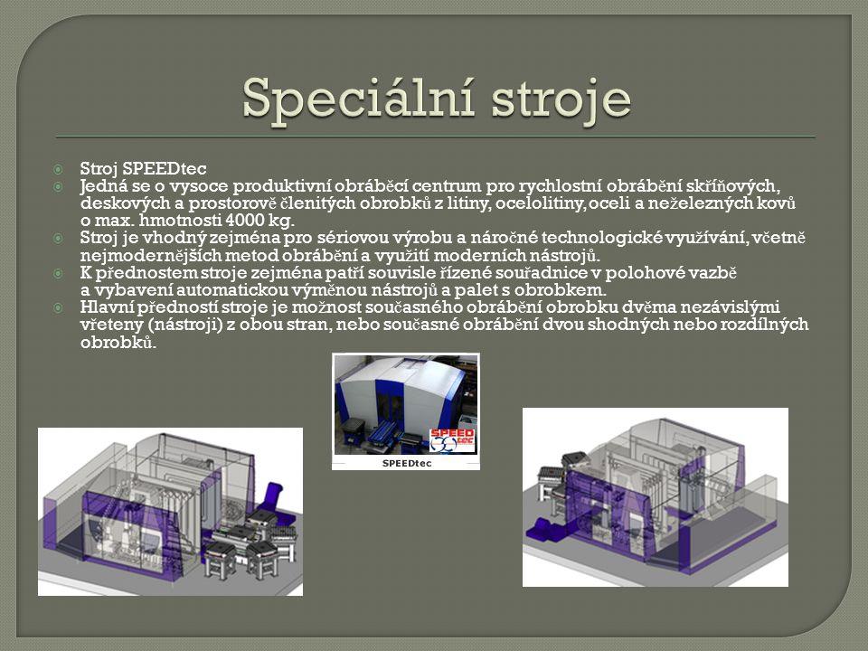 Speciální stroje Stroj SPEEDtec